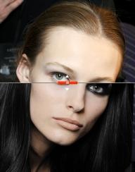 Fotomodel vor und nach dem (analogen!) Schminken und Frisieren