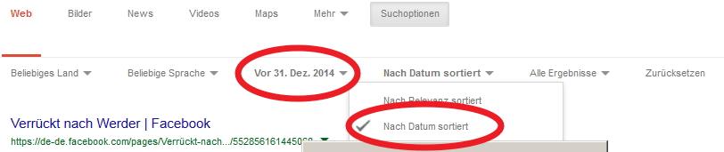 Google Ergebnisse Nach Datum Sortieren