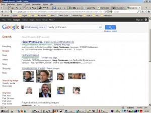 Die reverse Bildsuche von Google gibt den Namen preis